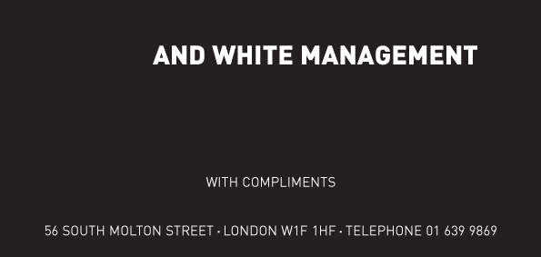 Black and White Management stationary 1979