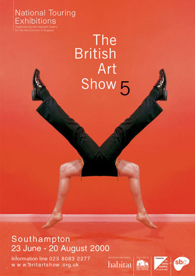 Poster for The British Art Show 5 2000 by John Pasche Photography by Richard Haughton