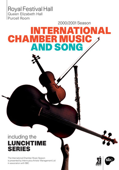 International Chamber Music Season leaflet Royal Festival Hall 2000 / 2001 by John Pasche Photography by Richard Haughton
