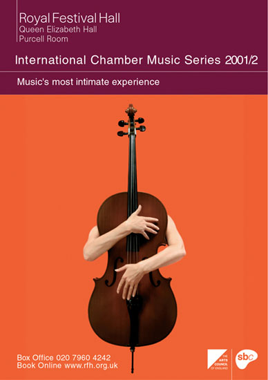 International Chamber Music Season leaflet Royal Festival Hall 2001 / 2002 by John Pasche Photography by Richard Haughton