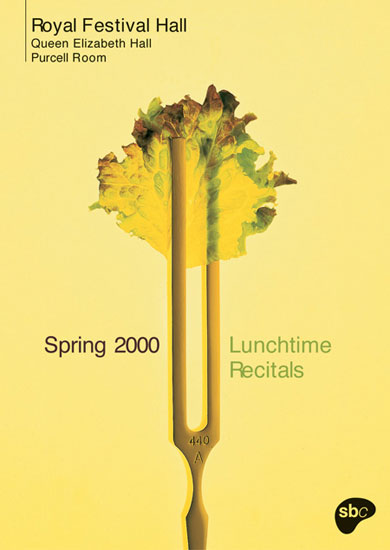 Lunchtime recitals leaflet Royal Festival Hall spring 2000 by John Pasche Photography by Merton + Gauster