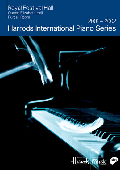 Harrods International Piano Series leaflet Royal Festival Hall 2001 / 2002 by John Pasche, Photography by Richard Haughton